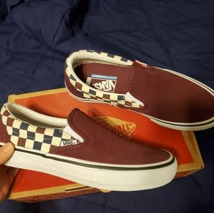 VANS Mens Multi Checker Slip-on Sneakers NWT